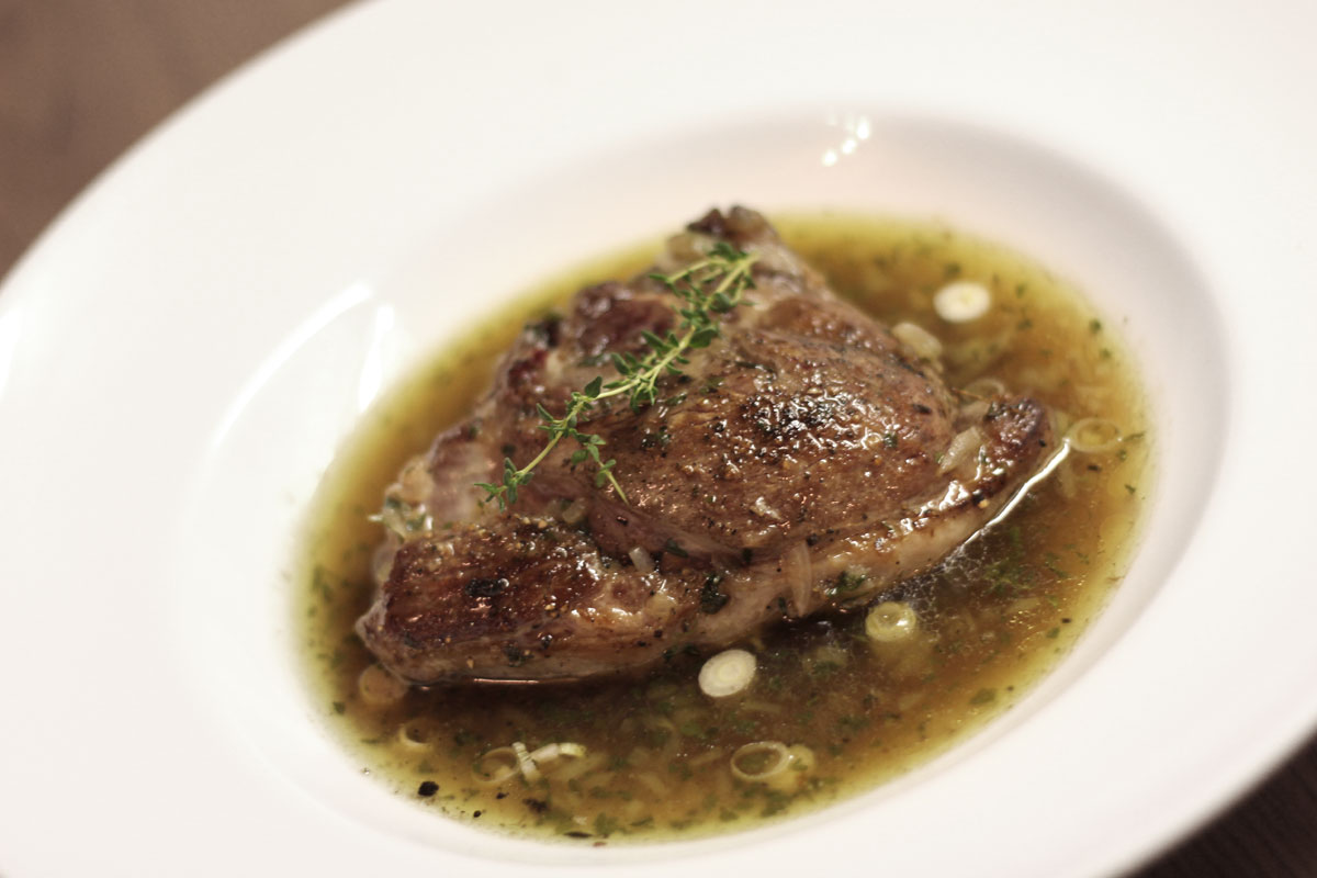 Csontos bárány steak recept elkészítés