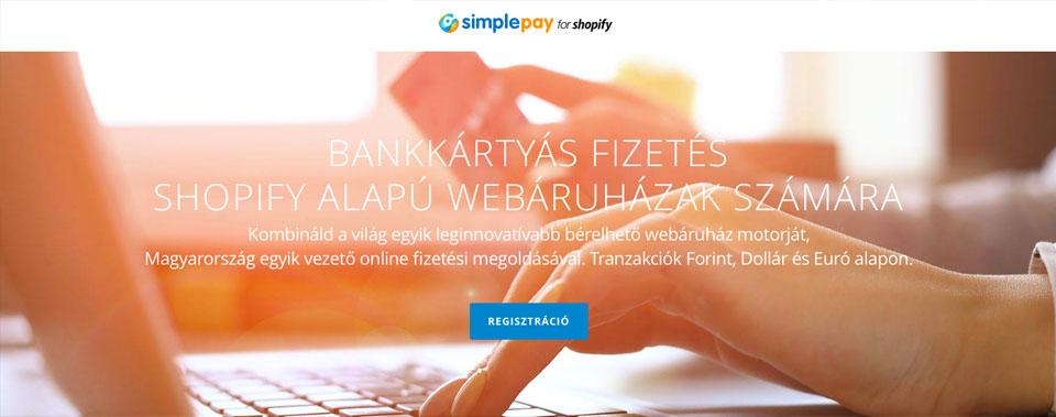 Forint alapú bankkártyás fizetés Shopify webáruházakhoz - SimplePay