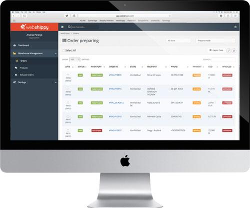 Webshippy Logisztikai rendszer